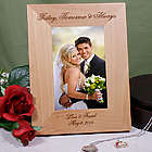 Engraved Today, Tomorrow and Always Wedding Picture Frame