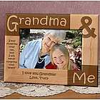 Personalized Grandma & Me Wooden Picture Frame