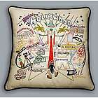 Hand Embroidered Hollywood Accent Pillow