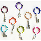 Music Theme Wine Charms