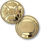Fireman Montage Engravable MerlinGold Coin