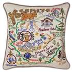Hand Embroidered Yosemite Pillow