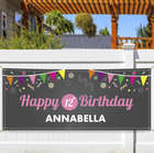 Personalized Chalkboard Birthday Banner