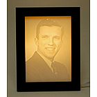 Personalized Carved Memorial Photo Light