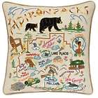 Adirondacks National Hand Embroidered Park Pillow