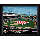Personalized MLB Stadium Print with US Flag