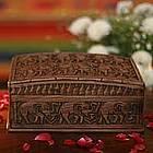 'Elephant Forest' Wood Jewelry Box