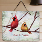 Personalized Cardinals Welcome Slate Plaque