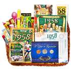 60th Birthday or 60th Anniversary Gift Basket for 1957