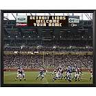 Detroit Lions Personalized Scoreboard 16x20 Framed Canvas