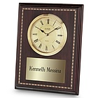 High Gloss Mahogany Clock Plaque