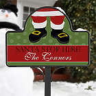 Santa Claus Stop Here Personalized Christmas Yard Stake Magnet