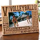 Personalized Volleyball 4x6 Picture Frame