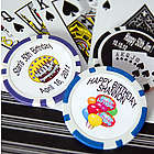 Custom Printed Birthday Poker Chip