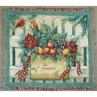 Embroidered Happy Holidays Tapestry Throw Blanket