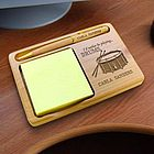 Personalized Drums Wooden Notepad and Pen Holder