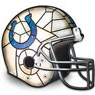 Indianapolis Colts Stained-Glass Design Helmet Lamp