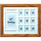 "50th Birthday 11x14"" Horizontal Frame"