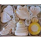 Bride and Groom Hand Decorated Cookies