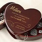 Cherry Wood Heart Personalized Jewelry Box