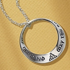 May the Road Rise to Meet You Sterling Poesy Prayer Necklace