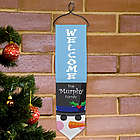 Personalized Snowman Welcome Christmas Banner