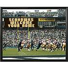 Seattle Seahawks Personalized Scoreboard 16x20 Framed Canvas