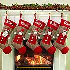 Personalized Sock Monkey Stocking