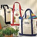 Red Personalized Canvas Tote