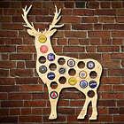 Buck Deer Beer Cap Map Bar Sign