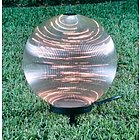 Luna Large Lantern on Petite Stand with Prism Globe