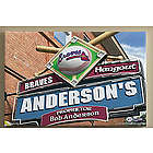 Atlanta Braves 16x24 MLB Baseball Personalized Pub Sign Print