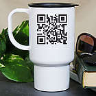 Personalized Scanable QR Code Travel Mug