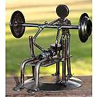 Rustic Weightlifter Iron Statuette