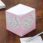 Personalized Her Heart of Love Note Cube