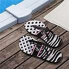 Personalized Zebra Print Flip Flops