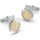 14k Gold Monogram Cuff Links with Men's Valet Box
