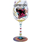 Capricorn Wine Glass