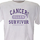 Pancreatic Cancer Suvivor Athletic Dept. Personalized T-Shirt