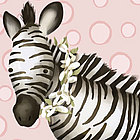 Zoey the Zebra Wall Art Canvas Reproduction