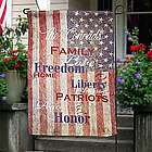 Fourth Of July Personalized Garden Flag