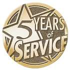 Personalized Years of Service Brass Medallion