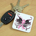 Breast Cancer Survivor Butterfly Key Chain