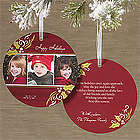 Personalized Cheerful Jolly Ornament Christmas Cards