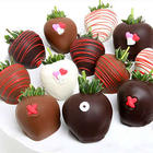6 Chocolate Covered Hugs and Kisses Strawberries