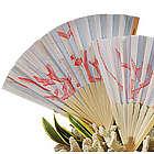 Bamboo Coral Print Wedding Fan