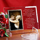 Wedding Invitation Personalized Beveled Glass Picture Frame