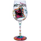 Sagittarius Wine Glass