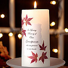 Autumn Leaves Memorial Candle