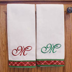 Embroidered Christmas Towels